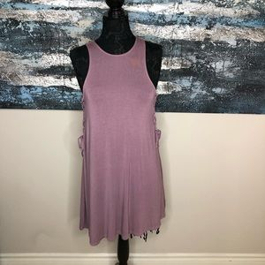 American Eagle Soft & Sexy Purple Side Lace Dress